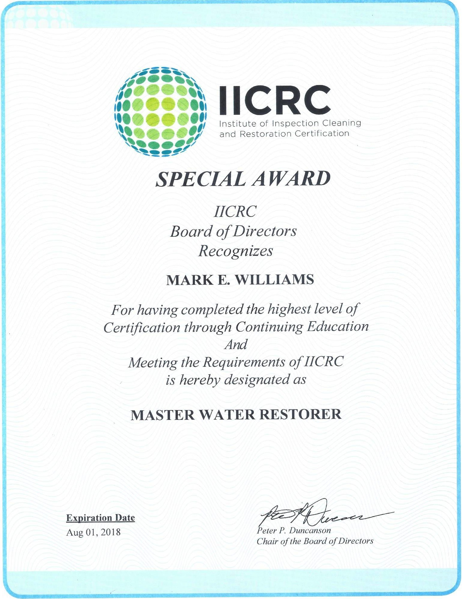 Apex restoration llc oahu hawaii cleaner flood and water damage iicrc certified firm iicrc certified for restoration cleaning master water restorer 1betcityfo Images